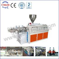 Plastic double piping production line
