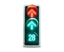 China factory for 400mm Red/Green Arrows Straight Driving Traffic Warning Light with timer