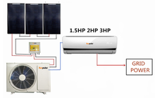12000BTU inverter hybrid solar air conditioner,directly operated by solar panel