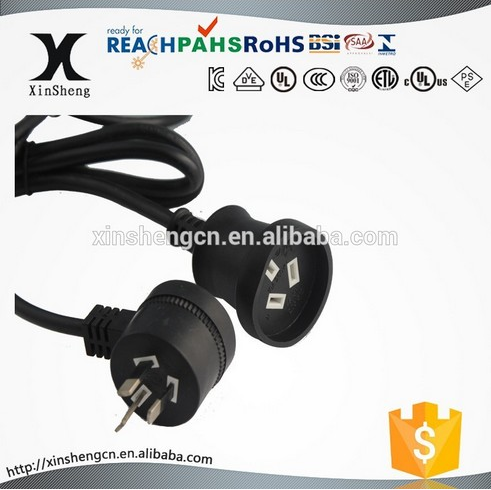 10A 250V piggyback plug and socket powercord