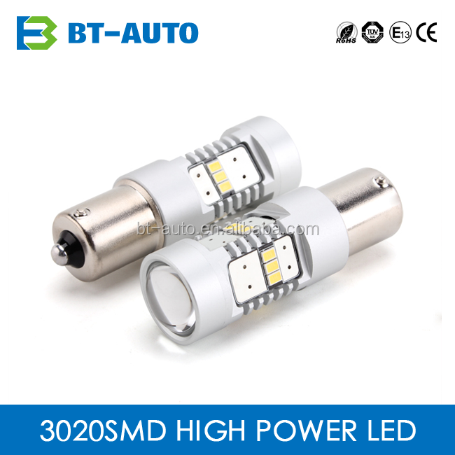 Top Quality High Power Car Light Led Reverse Smd3020 Chip 1156 Bau15S / Ba15S Led Bulb