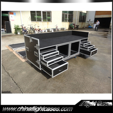 Moveable dj booth workstation for sale dj furniture dj set up sation with wheels
