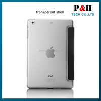 Wholesale 2015 matte transparent case waterproof leather case for ipad /ipad mini