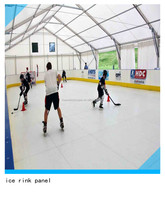 ice hockey board/white skating ice rink floor/uhmw artificial slide hockey ice rink