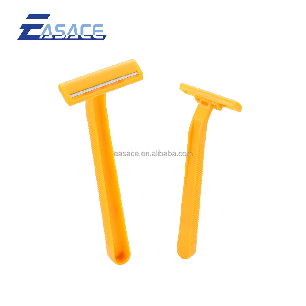 Yellow color high quality disposable razor for man single blade