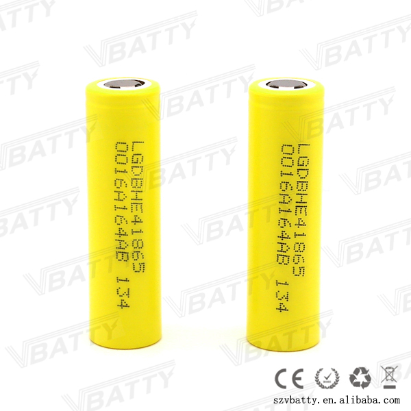 Top Quality LG HE4 Lithium 18650 Batteried 2500mah 30A High Drain HE4 Lithium 18650 20A Continuous LG 18650 HE4 Battery 3.6V 25