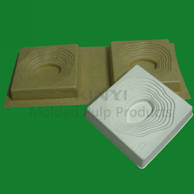 Biodegradable custom Diamond/Jewelry molded paper pulp inner packaging box