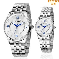 Alloy Case Stainless Steel Band Couple Watches