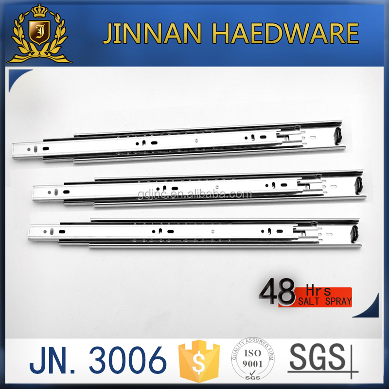 JN.3006 30mm width full extention ball bearing telescopic drawer slide