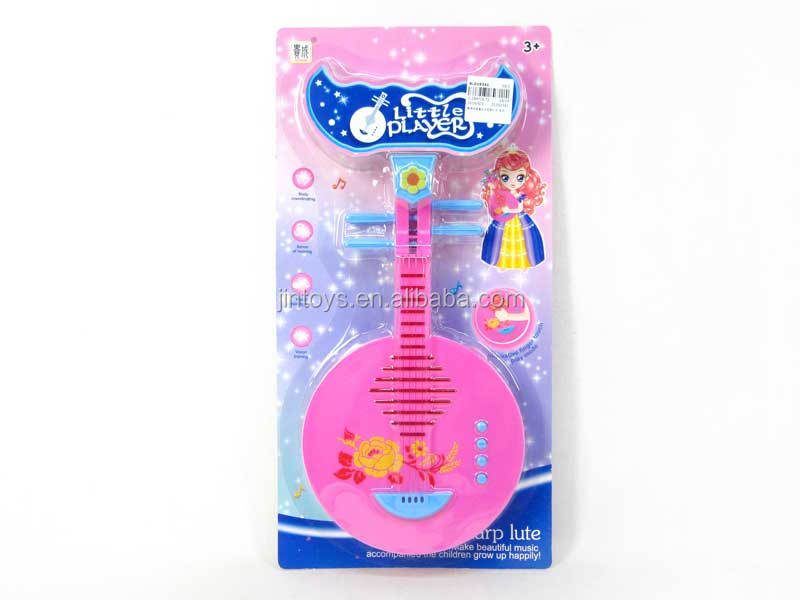 Kids toys Chinese classical musical instrument touch magic moon lute, electronic organ toy for wholesale, AL019341