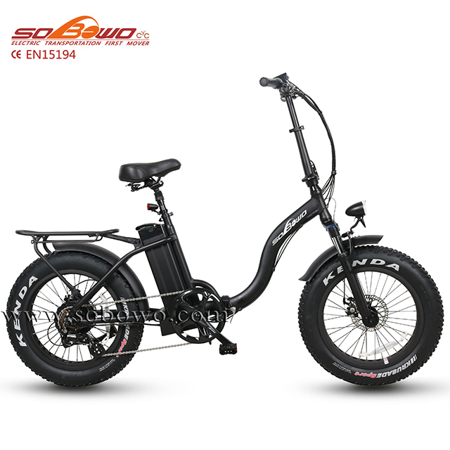 "20"" fat tire foldable electric bicycle li-ion battery operated <strong>bike</strong>"