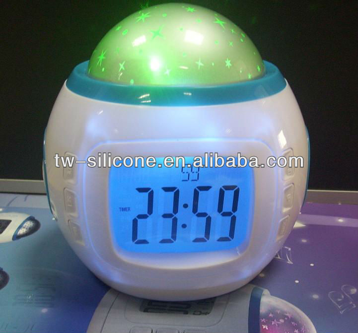 Music star Sky Projection Alarm Clock Calendar