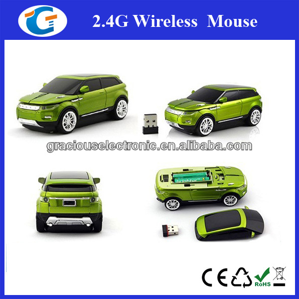 Flashlight Car Shape USB 3D Optical 2.4G Wireless Mouse Mice for Computer New