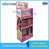 Cardboard Display Shelf POS Free Standing Floor Units