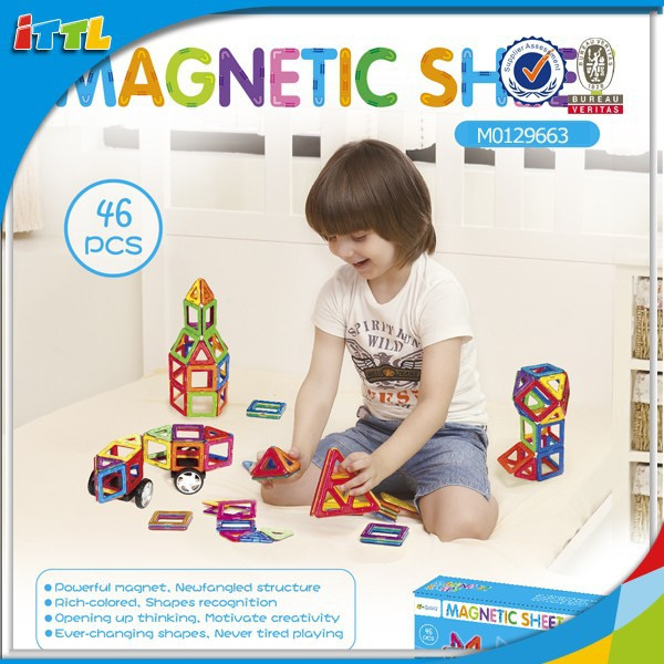 46pcs Best selling interesting educational toys,magformers toy,magnetic building blocks for kids