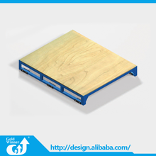 China Gold Supplier 2 Way Double Faced Wooden Desk Pallet For Warehouse