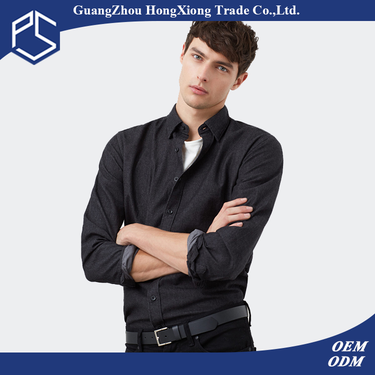 Guangzhou Costom Fashion Style High Quality Long Sleeve Black Blank Men Jeans Pant And Shirt