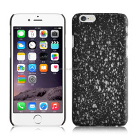 Rubberized meteor and shower pattern shockproof hard PC plastic back shell case cover for iPhone 6/ 6 plus
