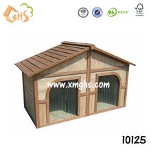 Modern wooden waterproof two doors dog house