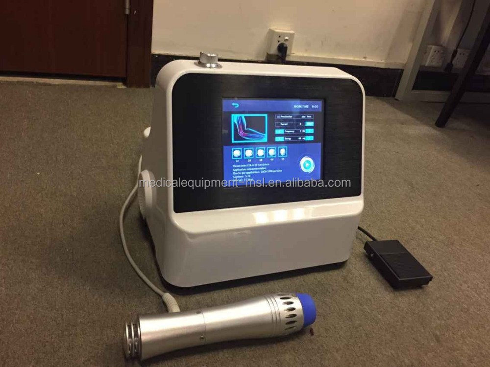 MSLST01 Latest design Body Pain Relief portable Shockwave Therapy Machine with 5 treatment tips