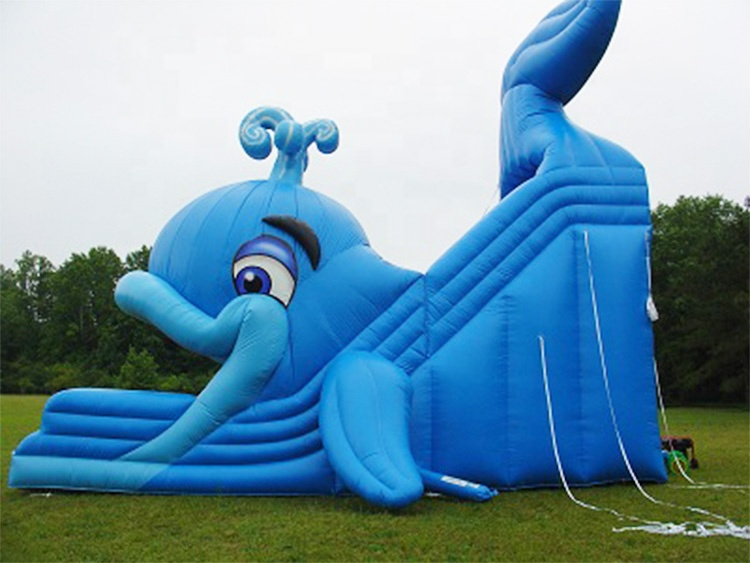 Large Kids Children's Playground Inflatable Dry Water Aquarium Slides Game Commercial Air Inflation Whale Slide for sale