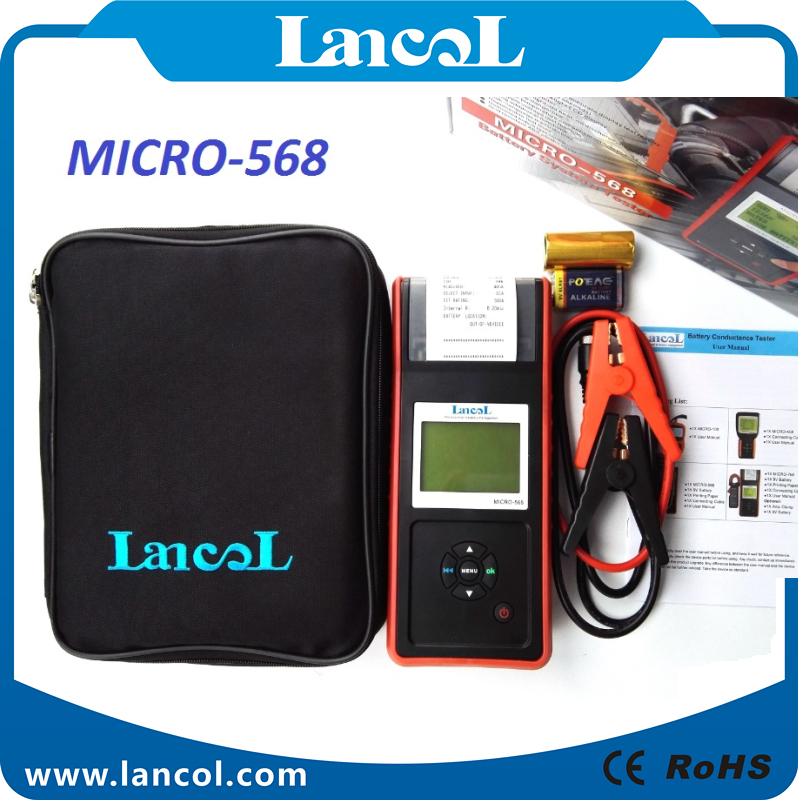 Lancol Auto Car battery load tester with printer MICRO-568/ SOC SOH CCA IR