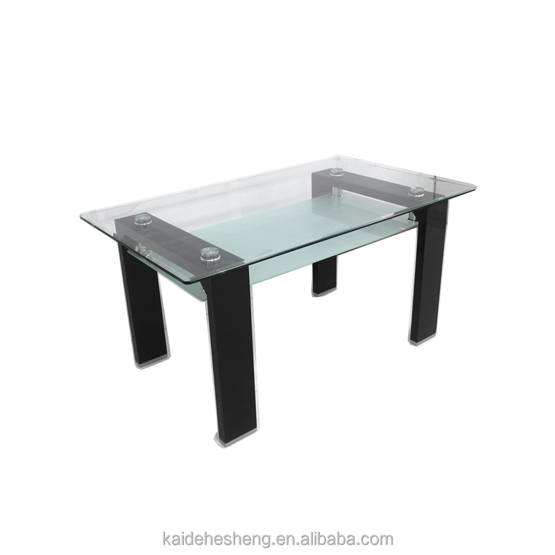 Great Sale Double Layer Metal Glass Dining Room Table
