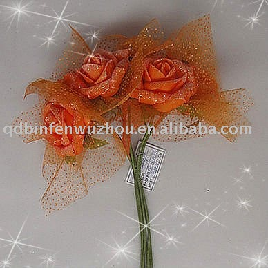 Orange Wedding Flowers Roses Bouquets with Pearls,wedding flowers roses bouquets