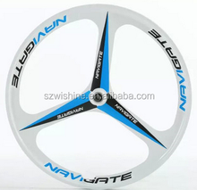 26inch 3 spoke lightest strongest magnesium alloy bike wheel /fixed gear type hub bike wheel