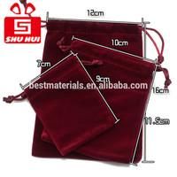 Drawstring pouch with logo jewelery velvet gift bag classy jewellery pouch mini velvet packing bags for gift