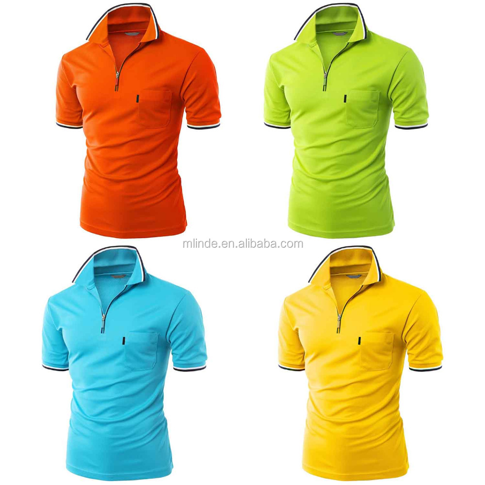 Blank Wholesale Rugby Shirts Cotton Polyester Blend Pocket Zip Polo T Shirt Rugby Jersey For Men