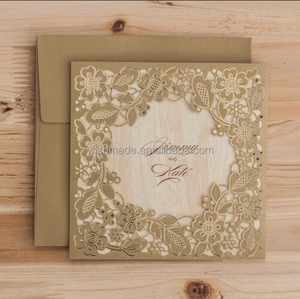 Wishmade Arabic/india Royal wedding invitation card ,birthday card design cw5279