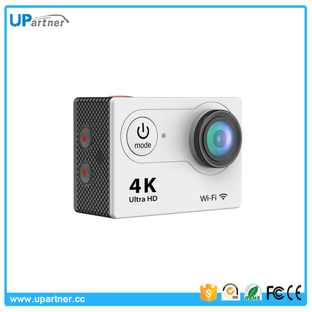 New design 4k 30fps wifi mini underwater 30m 2.0 inch lcd action camera webcam