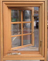 North America Australia Europe standard modern style casement wood Aluminum swing window