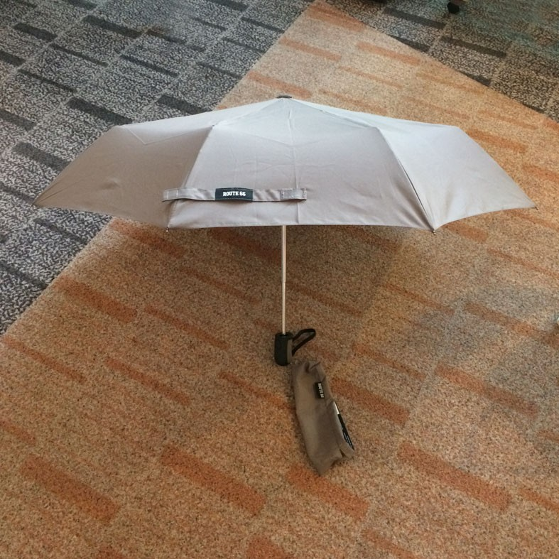 automatic open & close 3 folding umbrella with FRP frame