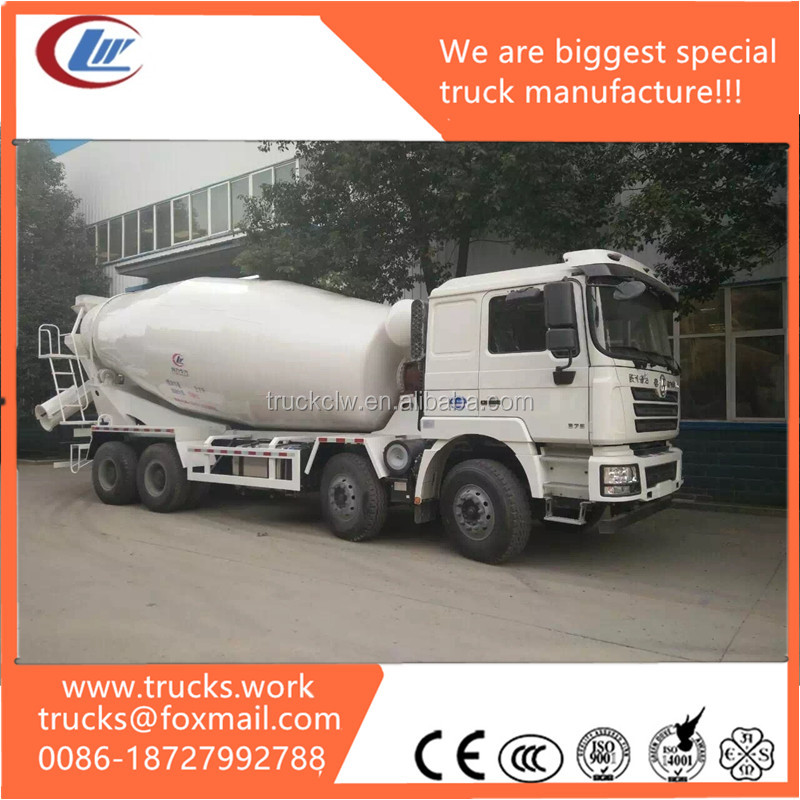exported to Congo shancman 8x4 RHD 14CBM truck with grout mixer and water tank