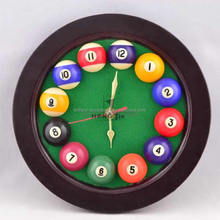 Home Deco Billiards Pool Balls Wall Clock