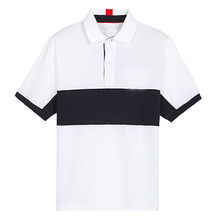 Custom black white cotton polo shirt no label
