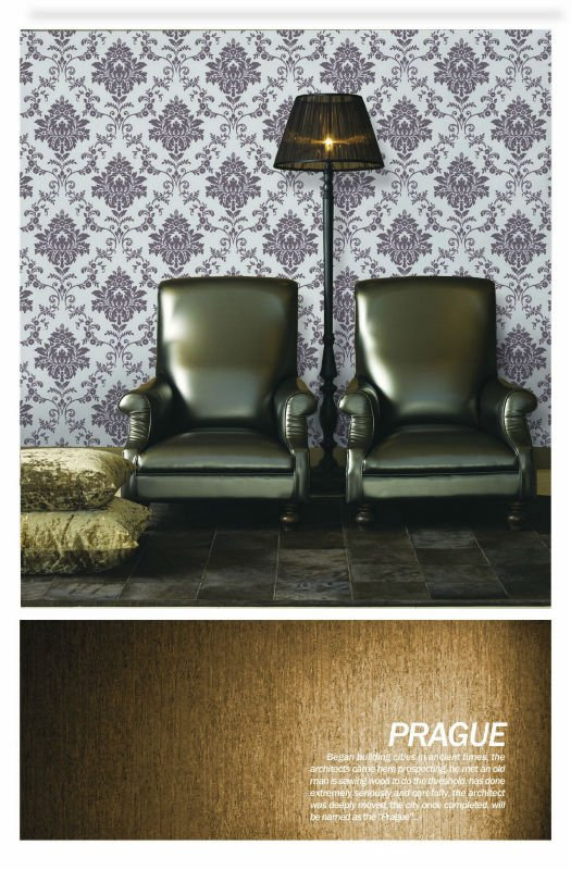 new style PVC coated fine decor wallpaper