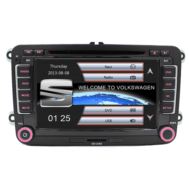 Windows 6.0 Capacitive Screen! Two Din 7 Inch Car DVD Player For Seat/Altea/Leon/Toledo/VW/Skoda Radio GPS RDS 1080P Ipod Map