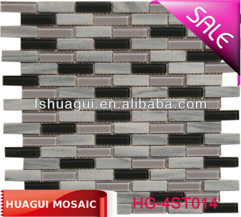 Dunkel und grau backsplash/Wohnzimmerwand Fliesen/naturstein mosaik fliesen-Mosaik-Produkt ID ...