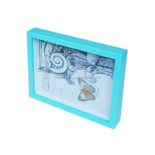 Blue simple glass picture photo frame