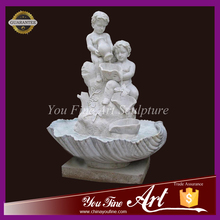 Factory Supplying Outdoor Marble Water Fountain with Playing Boys