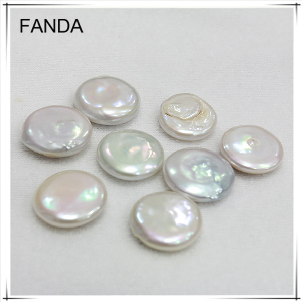 Coin pearl wholesale/12-13mm large freshwater loose pearl no holes