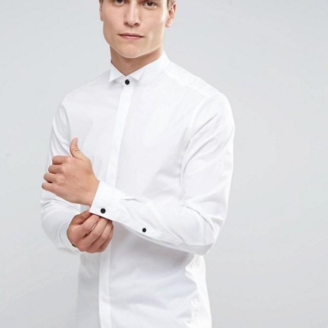 Competitive Promotional Custom Spandex Cotton Long Sleeve Men's White Slim Size Uniform Dress Shirts
