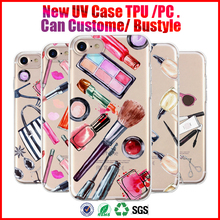 can custom lanyard hole cell phone cover soft tpu pc hard for iphone 7 case uv printing case for iphone 7plus