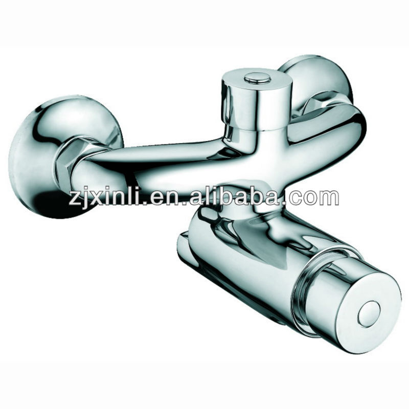 High Quality Brass Timing Extened Shower Mixer, Self Closing Mixer, Chrome Finish and Wall Mounted