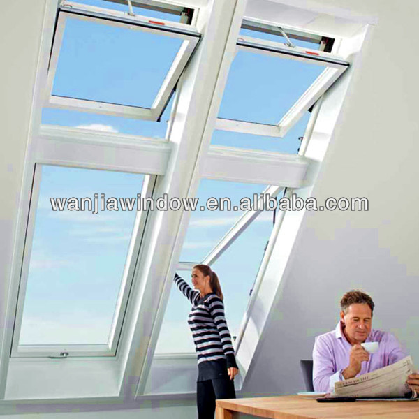 Wanjia factory strong glass top hinged roof window, skylight window