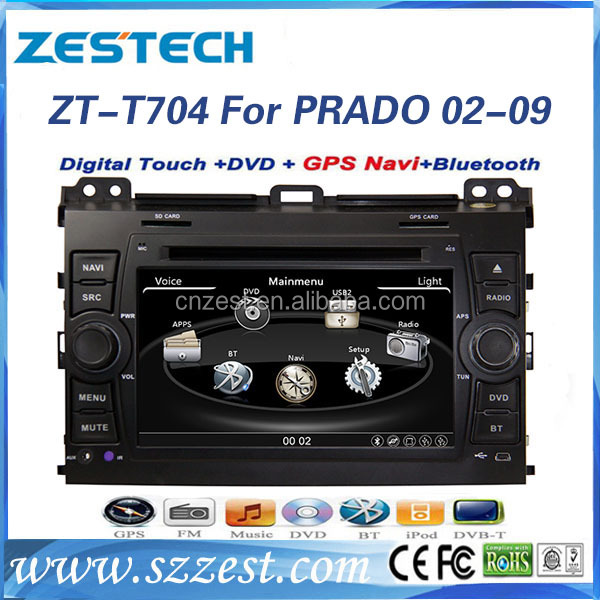 7'' touch screen car dvd for toyota land cruiser 120 dashboard with gps radio audio multimedia
