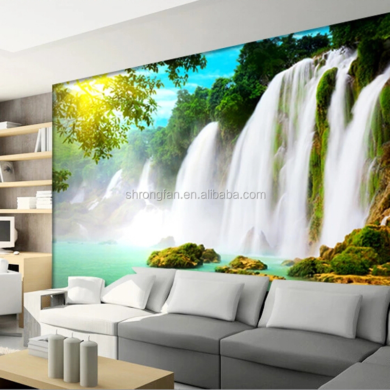 High Resolution Natural Scenery Latest Fashionable Inkjet Printing Wall Mural For Home Decoration